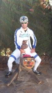 David Lozano, uno de los corredores españoles del Team Novo Nordisk