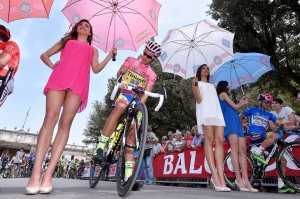 Contador, con la maglia rosa del Giro